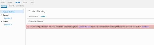 Product Backlog Error